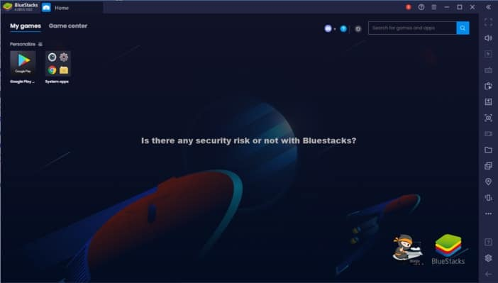 Is there any security risk or not with Bluestacks?