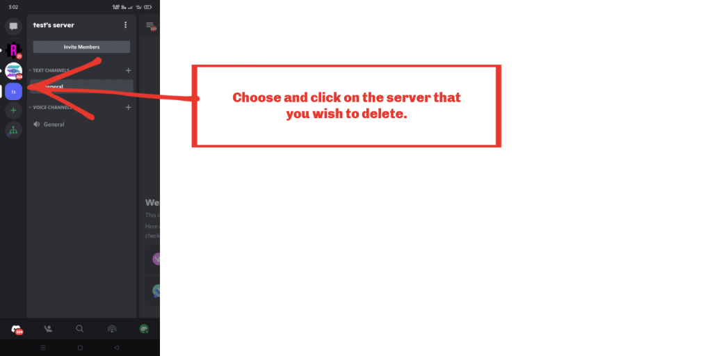 Deleting Server from your iPhone and Android