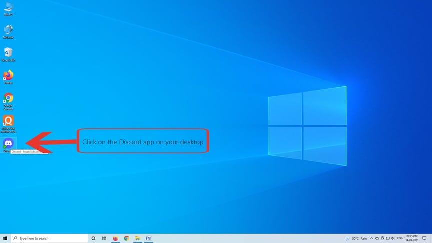 Deleting a Discord server on Windows Desktop